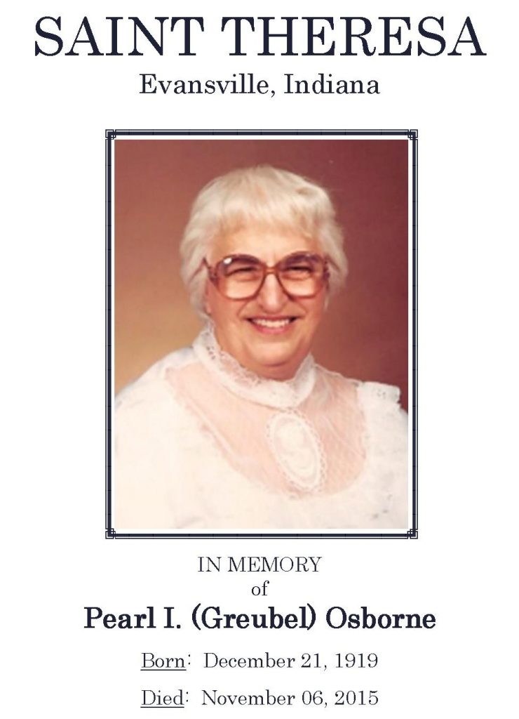 2015-11-06 Funeral Pic - Pearl I Osborne [Narthex Video]