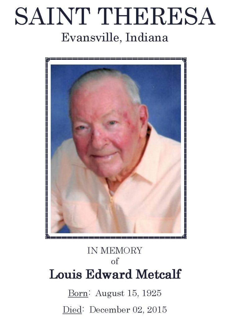2015-12-05 Funeral Picture [Louis Edward Metcalf] Narthex Photo