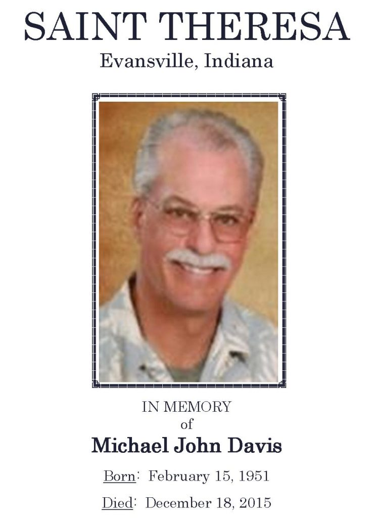2015-12-18 Funeral Picture [Michael John Davis] - Narthex Video
