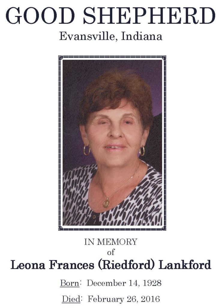 [2016-03-01] Funeral Picture - Leona Frances Riedford Lankford - Narthex Pic