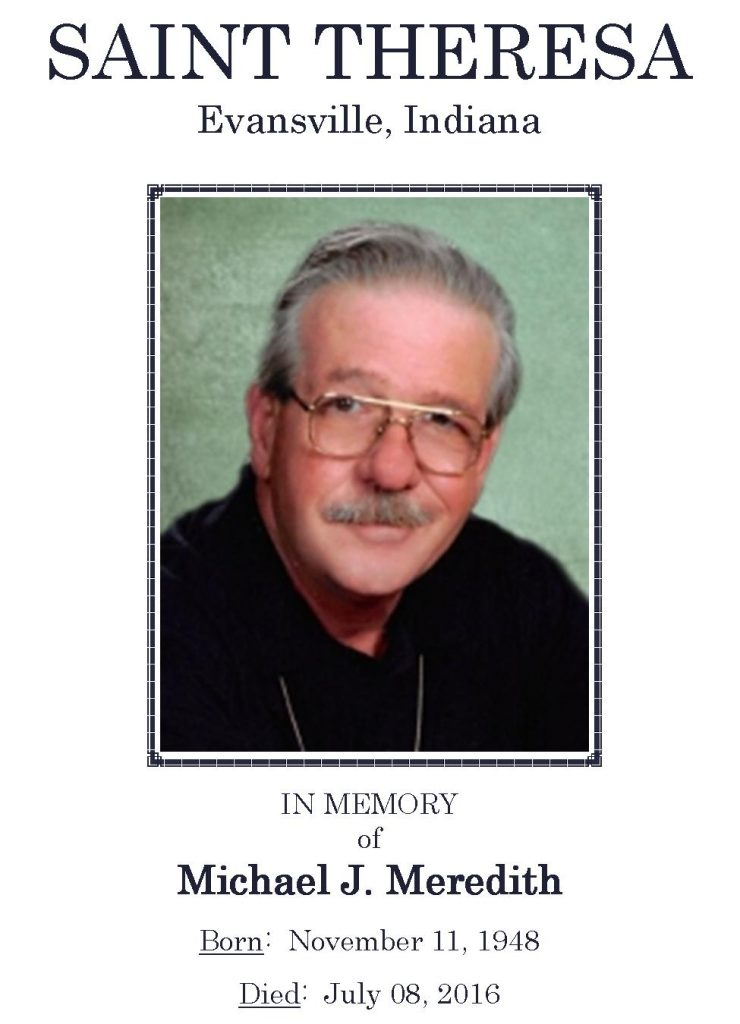 2016-07-08 Funeral Pic - Michael J Meredith [Narthex Video]