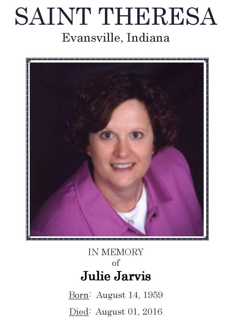 2016-08-01 Funeral Picture [Julie Jarvis] Narthex Picture