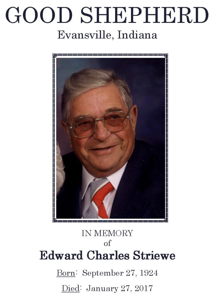 2017-01-27 Funeral Picture [Edward Charles Striewe] Narthex Picture